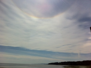 Sun Bow at my Cottage